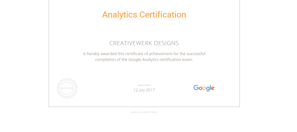 Google Analytics Certification - PSD to HTML, CSS3, Responsive ...